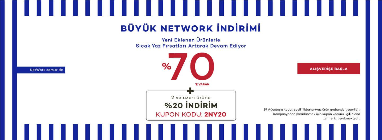 %70'e varan Büyük Network indirimi