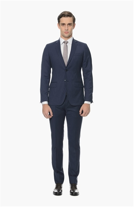 Çizgili Lacivert Takım Elbise Network