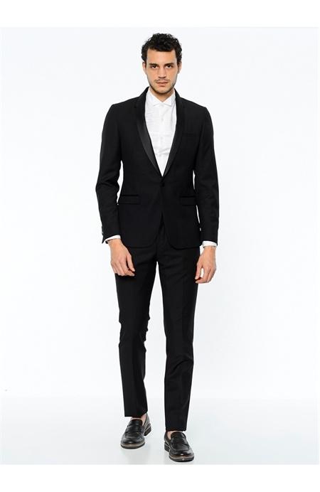 Network Siyah Smokin Takım Elbise
