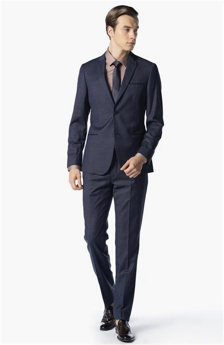 Lacivert Yün Takım Elbise Network