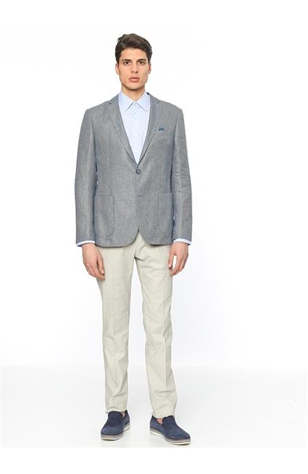 Network Mavi Slim Fit Ceket
