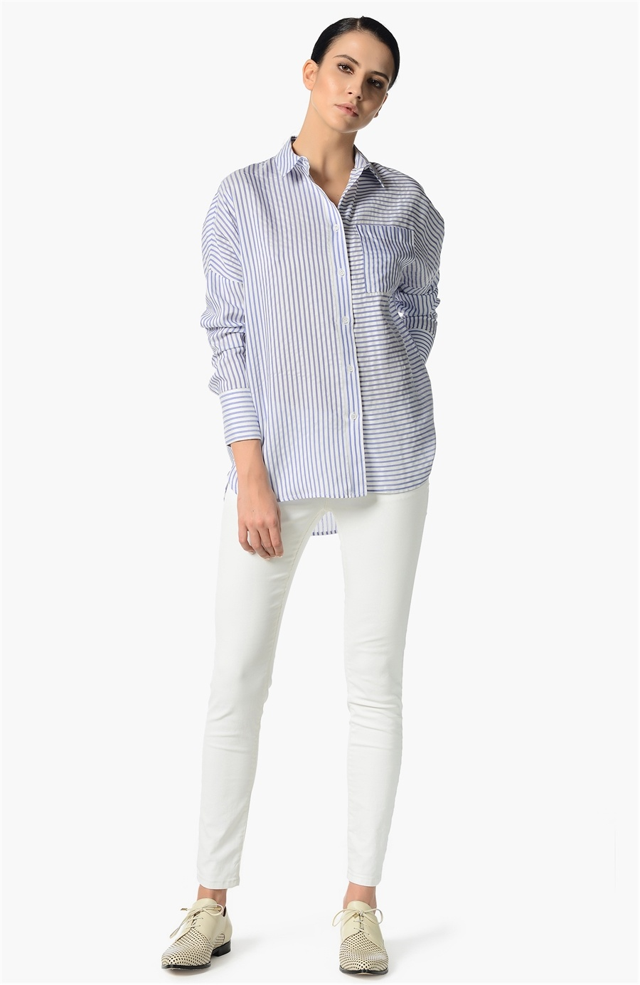 2019 dar kesim beyaz gömlek erkek