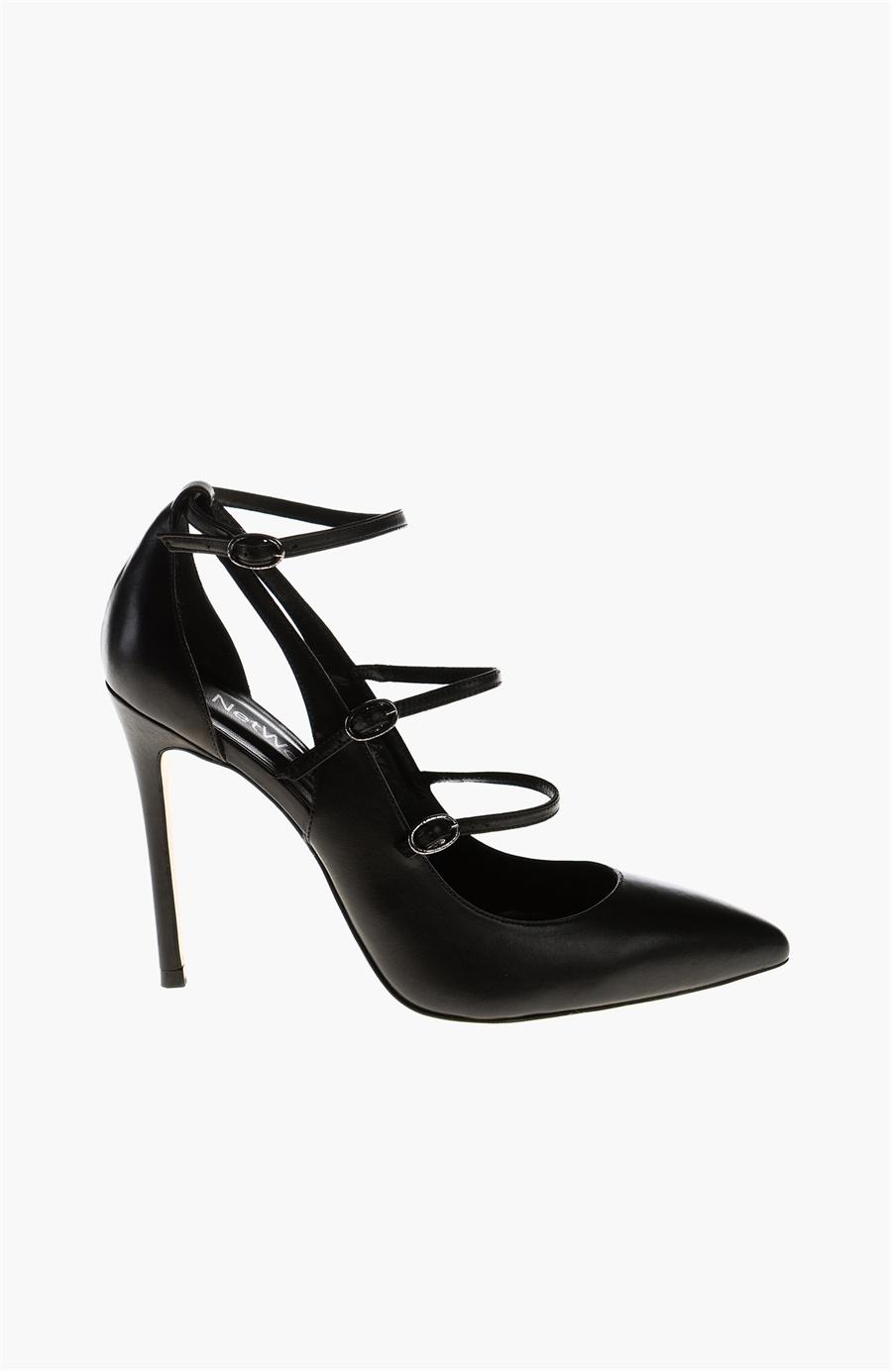 Siyah Topuklu Ayakkabı - Renk Siyah - Network