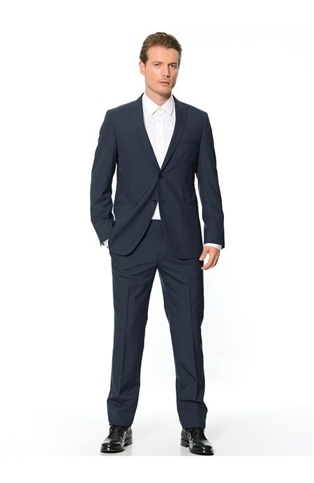Lacivert Slim Fit Takım Elbise Network