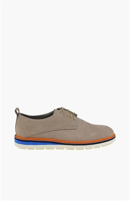 Bağcıklı Bej Deri Ayakkabı Network