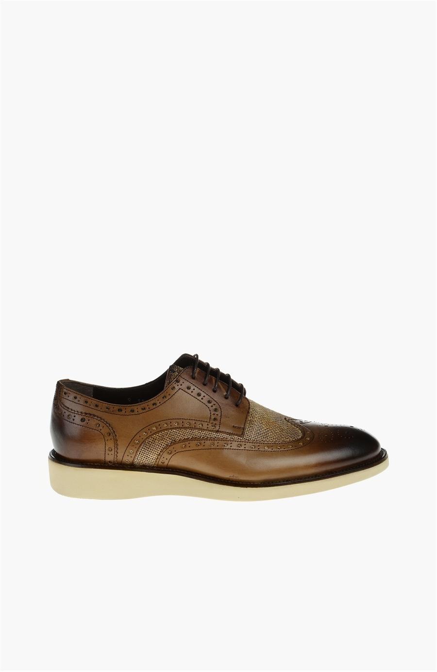 Açık Kahverengi Deri Ayakkabı - Renk Acik Kahverengi - Network