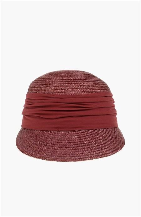 Mürdüm Hasır Siperlikli Şapka Network