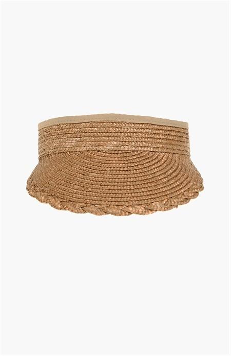 Bej Hasır Siperlik Şapka Network