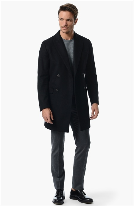 Siyah Yünlü Palto Network