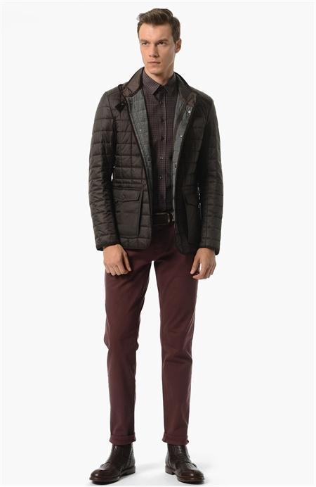 Network Slim Fit Kahverengi Coat Ceket