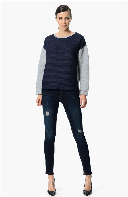 Gri Lacivert Sweatshirt Network