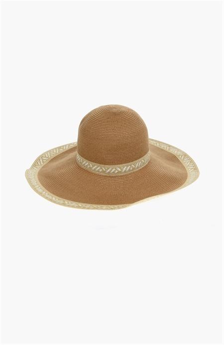 Bej Hasır Şapka Network