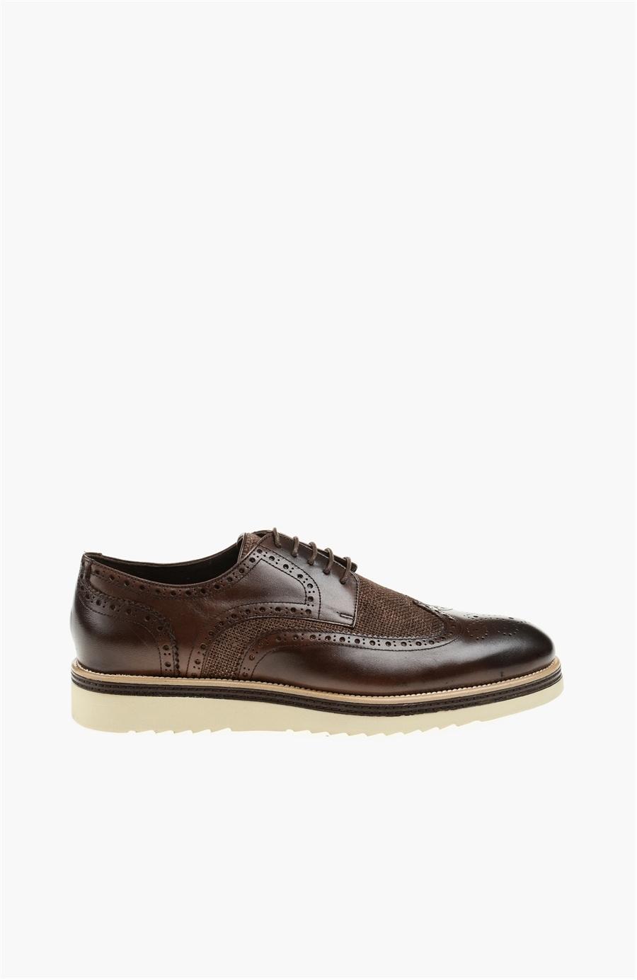 Zımba Desenli Kahverengi Ayakkabı - Renk Kahverengi - Network
