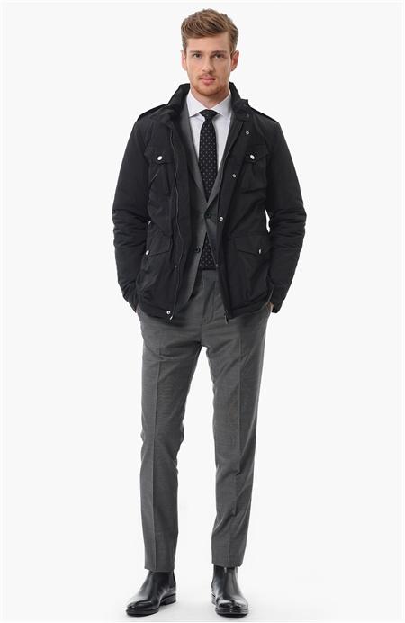 Network Siyah Coat Ceket