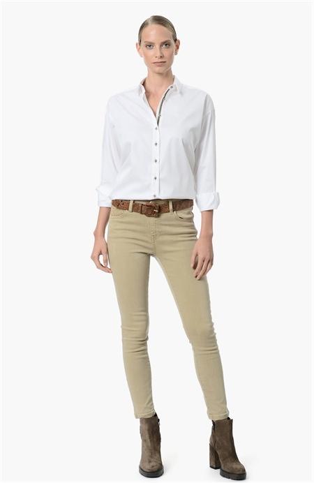 Beyaz Regular Fit Gömlek Network