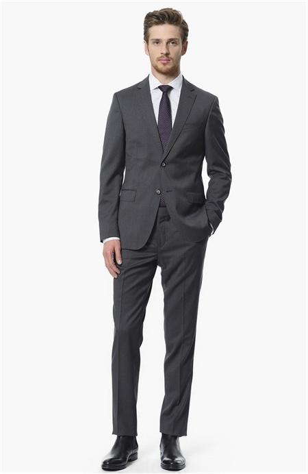 Limited Antrasit Yün Takım Elbise Network